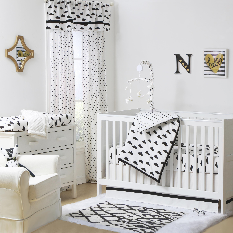 Fluffy Cloud Crib Starter Set In Black