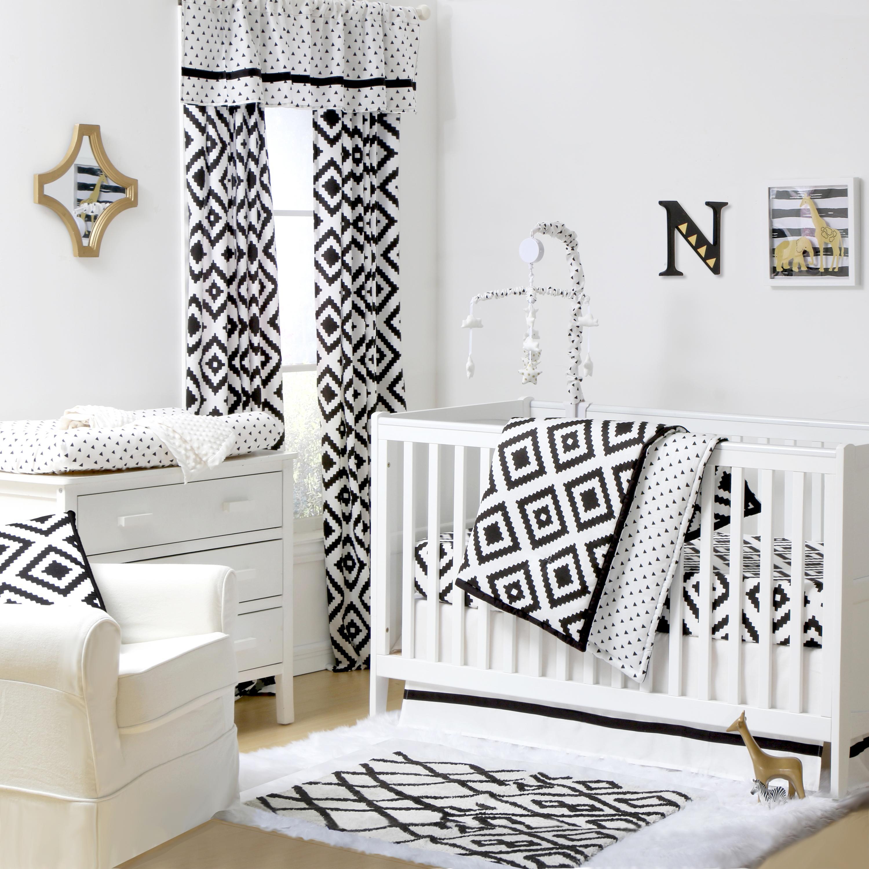 Deco Diamond Crib Starter Set In Black