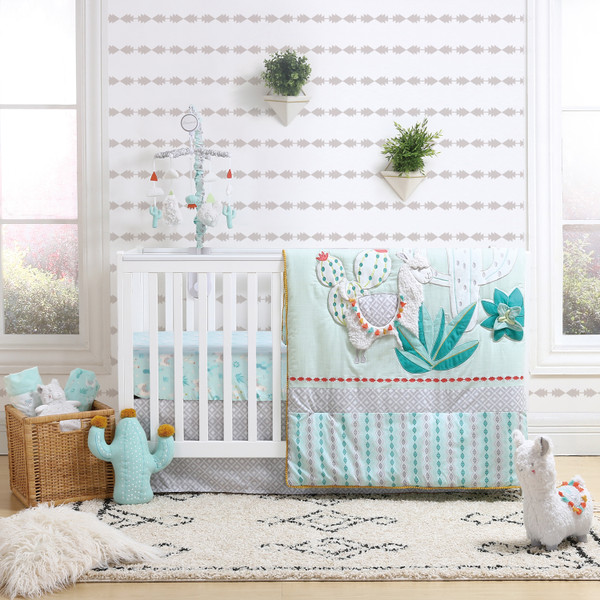 Little Llama Crib Bedding Set