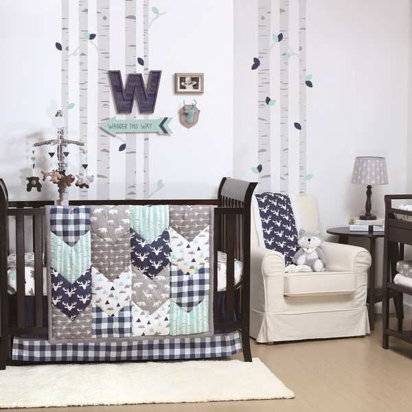Woodland Trail Crib Bedding Set