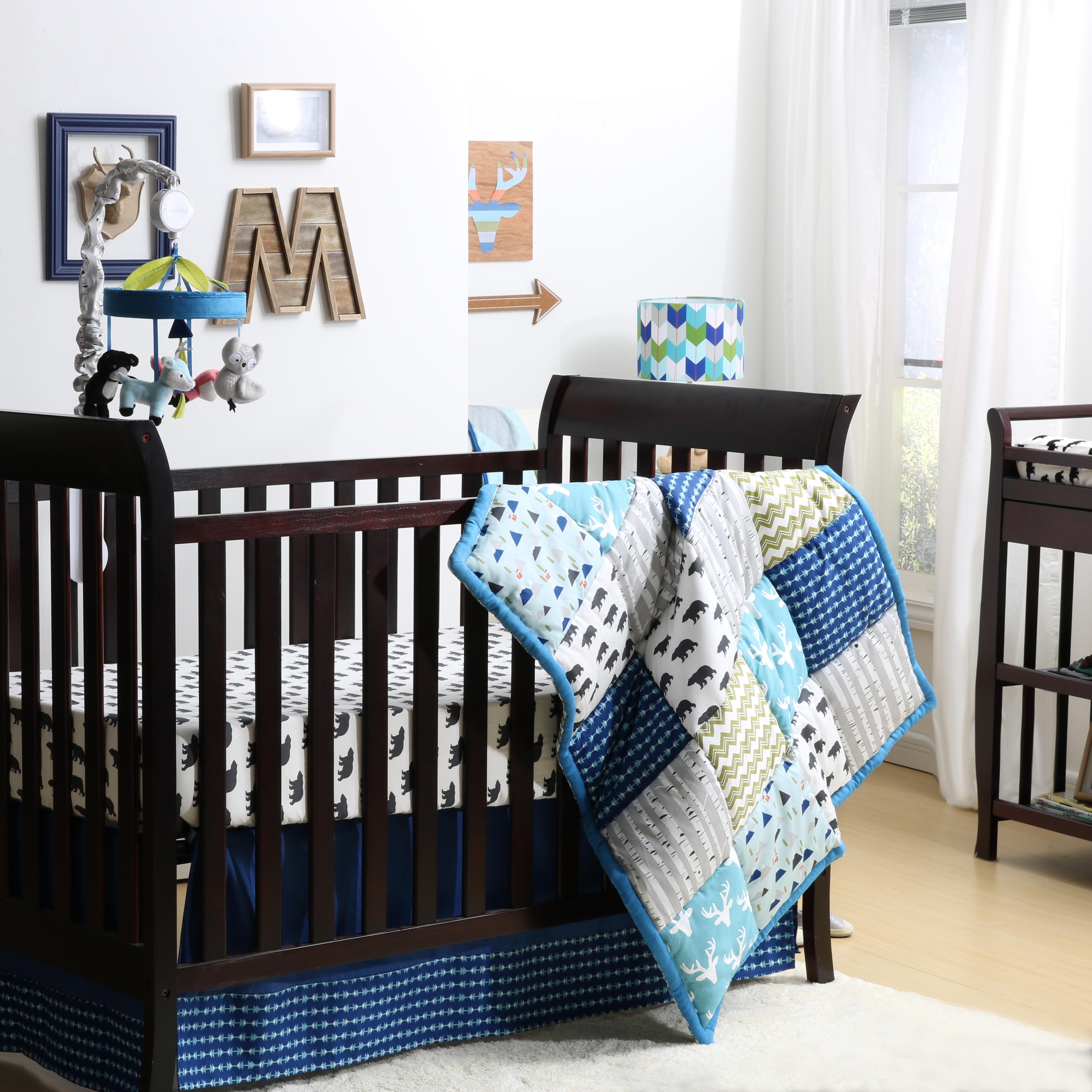 - Woodland Dreams 4 Piece Crib Bedding Set