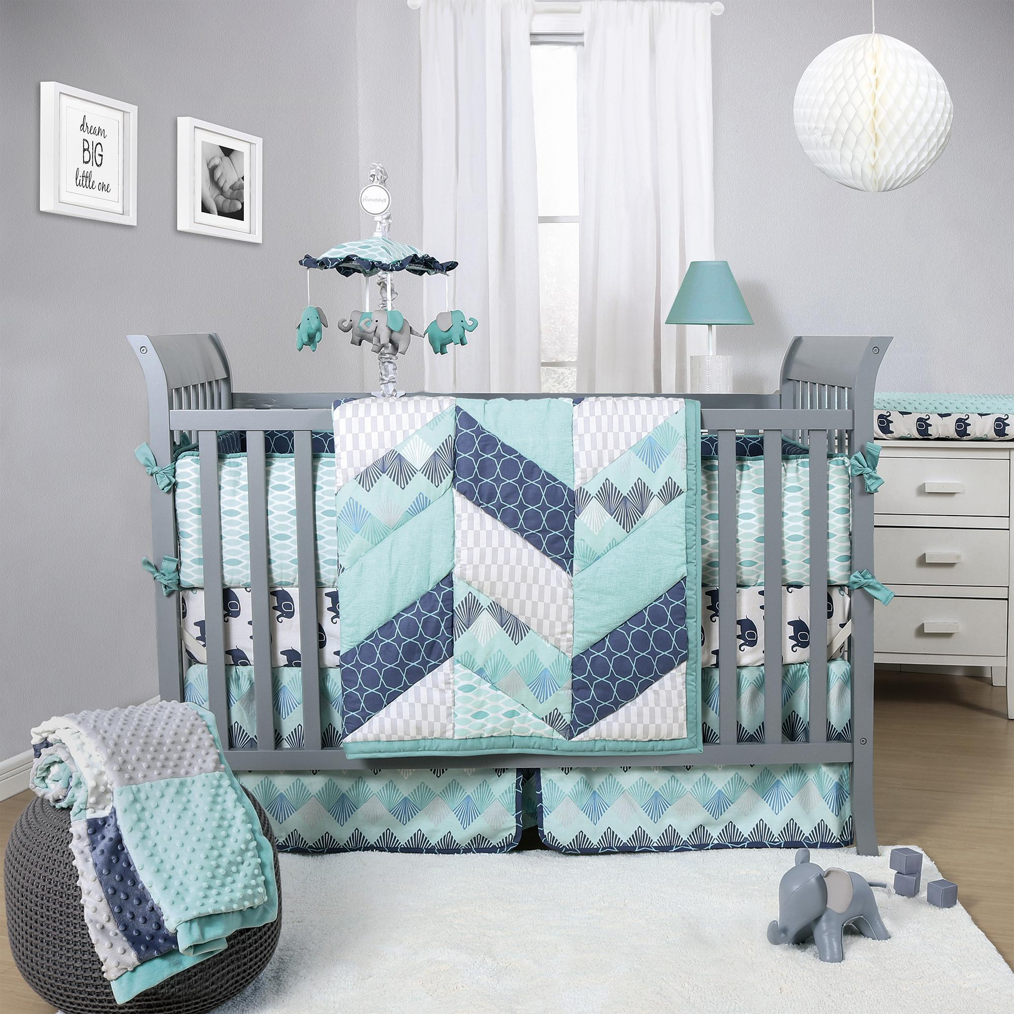 huge with chevron is bedding image crib itm set grey and piece purple elephant trim blankets cribs patchwork loading
