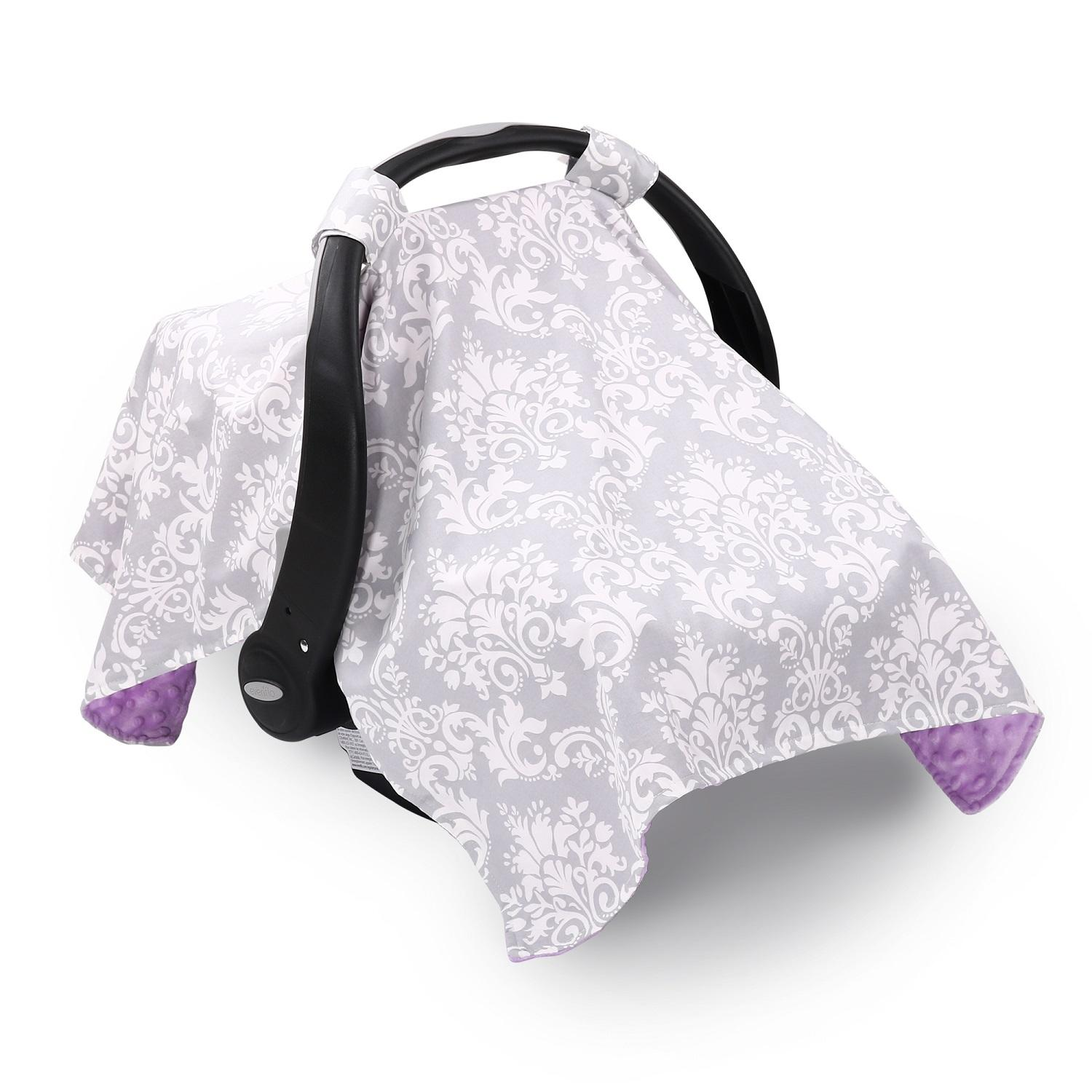290838be9c2 Purple   Grey Damask Canopy Cover