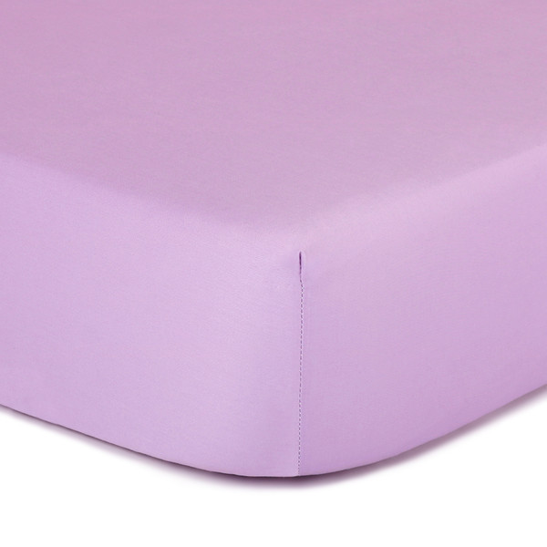 Purple Fitted Crib Sheet