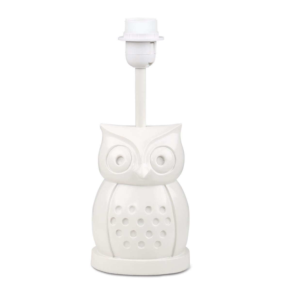 our owl lamp base is a novel way to add both light and whimsy to your little oneu0027s room the delightful owl shape provides a solid and stable resin base and