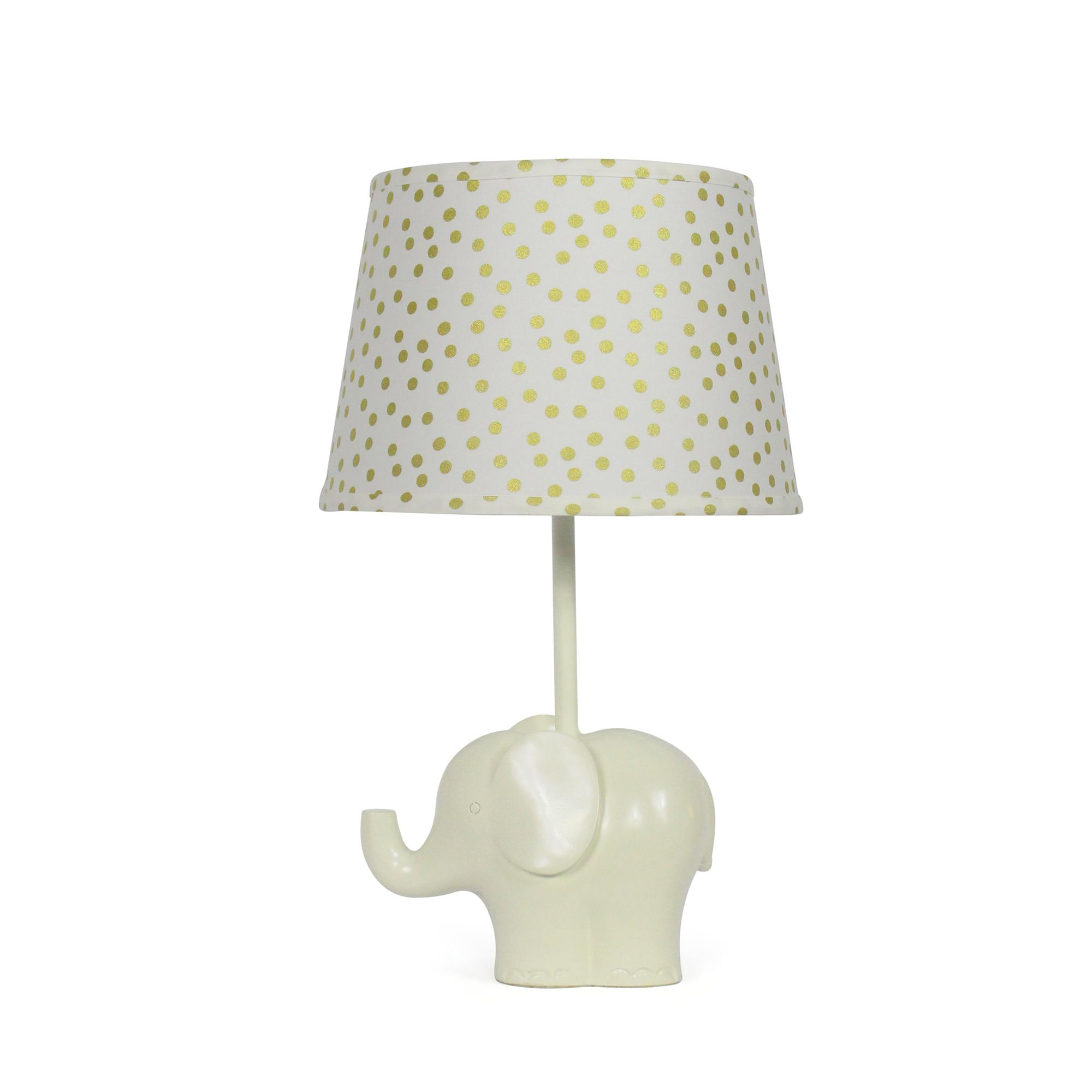 Elephant lamp for nursery - Everything About This Little Elephant Lamp Is Sweet From His Upturned Trunk To His Soft White Body He Is A Happy Companion To Any Nursery
