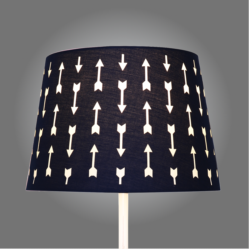 Navy arrows cut out lamp shade aloadofball Image collections