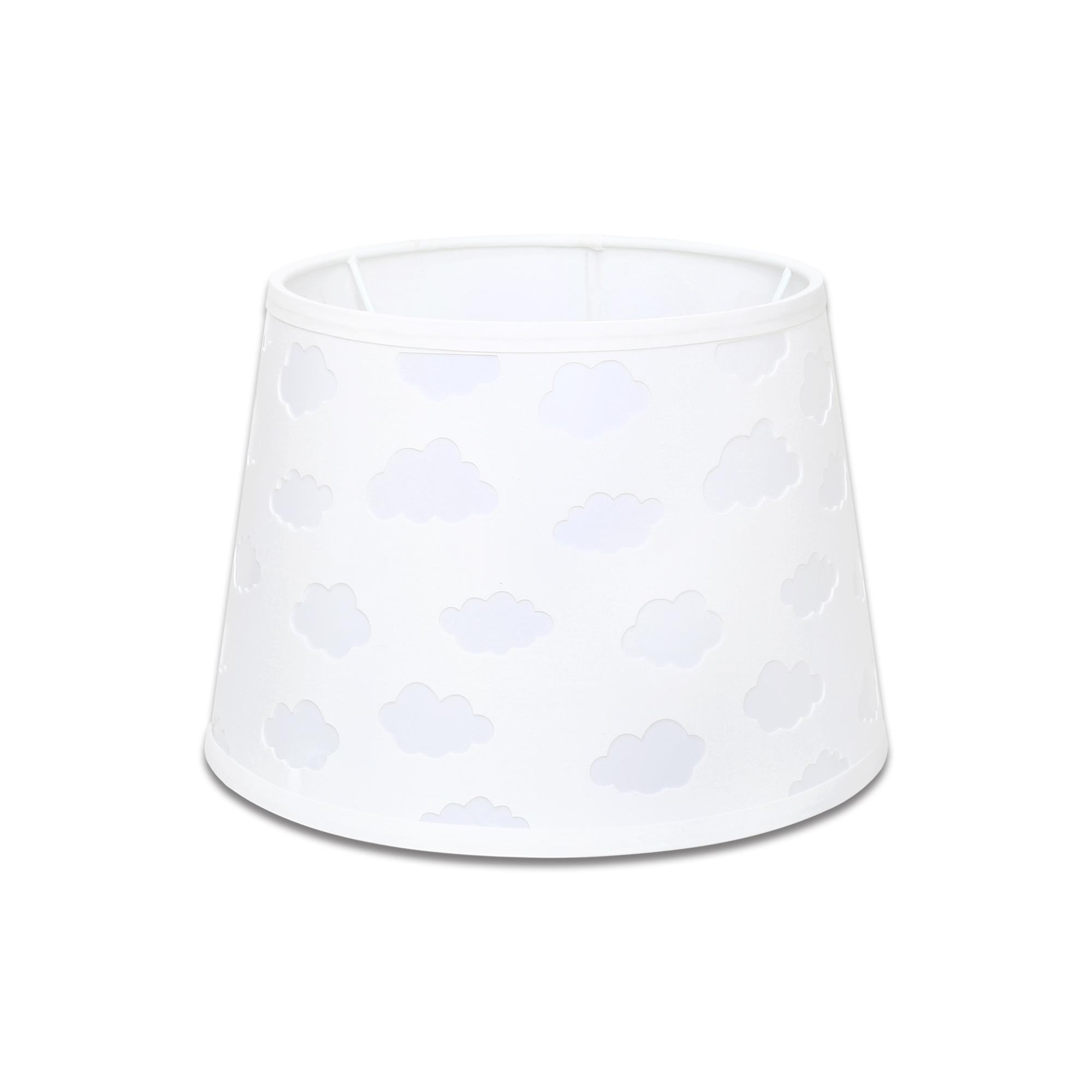 White Cloud Cut Out Lamp Shade