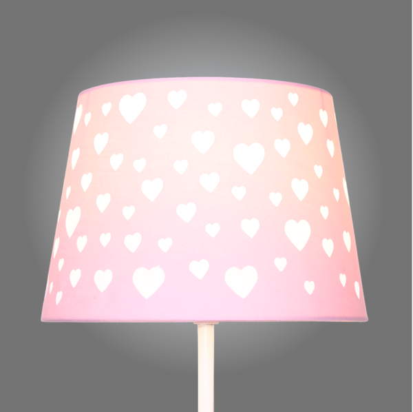 Pink heart cut out lamp shade aloadofball Image collections