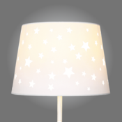 Star cut out lamp shade the stars are aligned with the star cut out lamp shade our cotton fabric shade is scattered with cut out stars which allow light to shine gently through aloadofball Choice Image