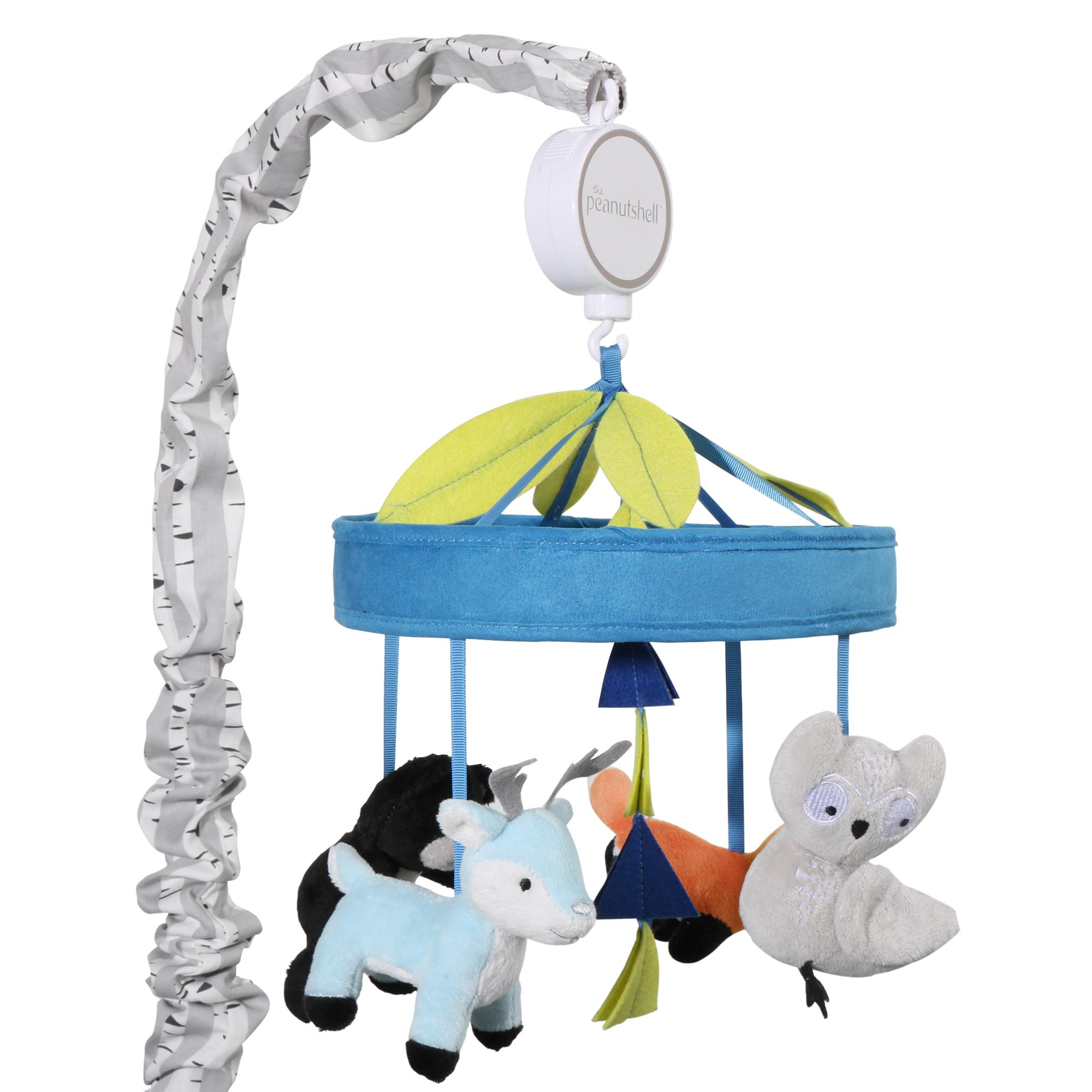 woodland dreams musical mobile - the woodland dreams musical mobile features adorable forest animals ongrosgrain ribbons it plays a gentle lullaby to soothe your baby to sleep