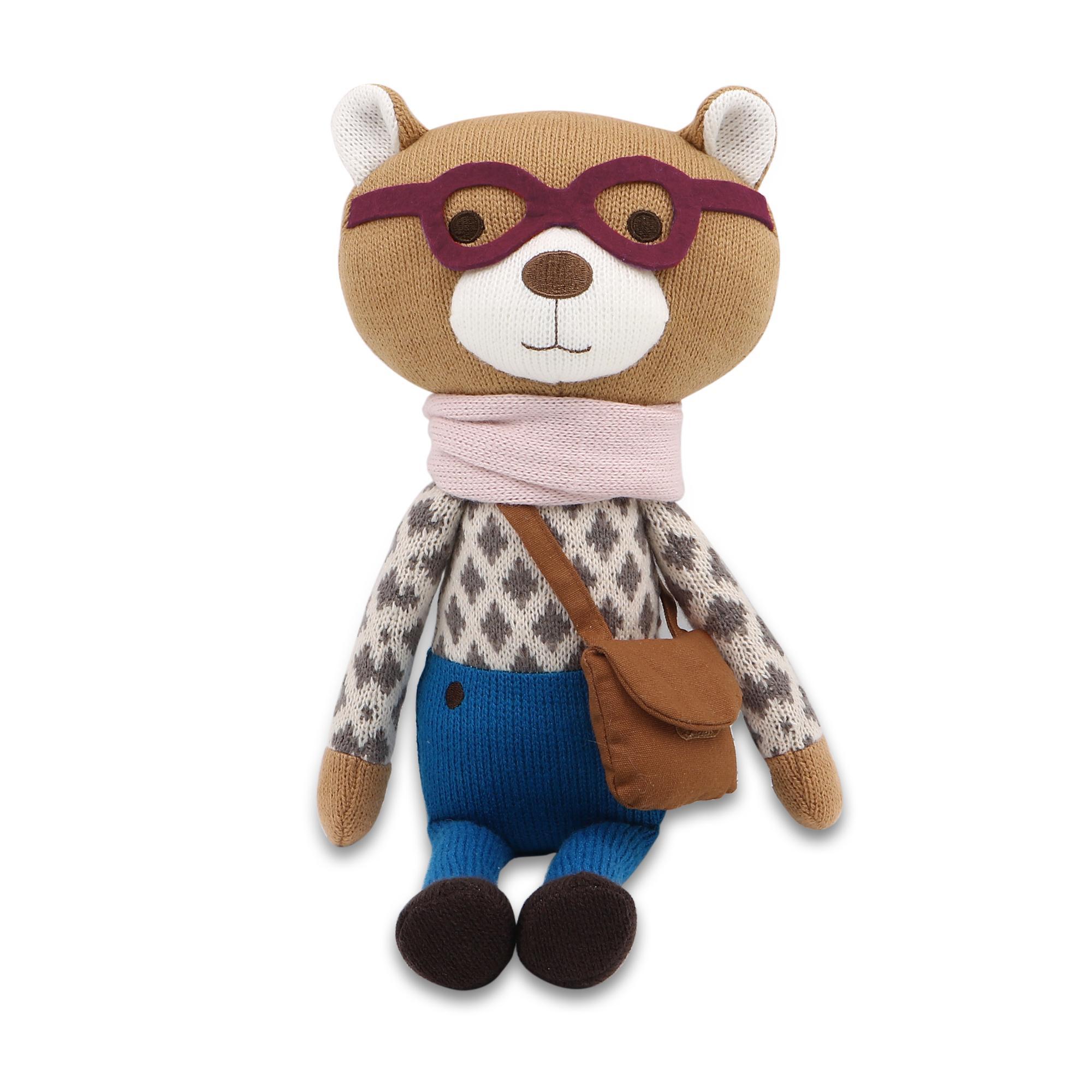 Peanut Shell Charlie the Bear Knit Plush