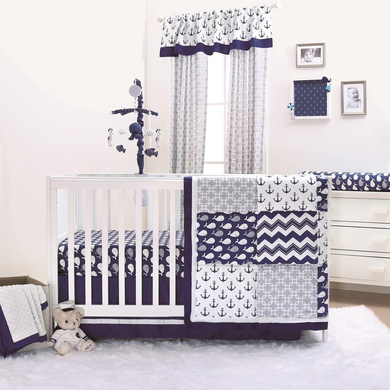 Crib Bedding Sets Grey Chevron