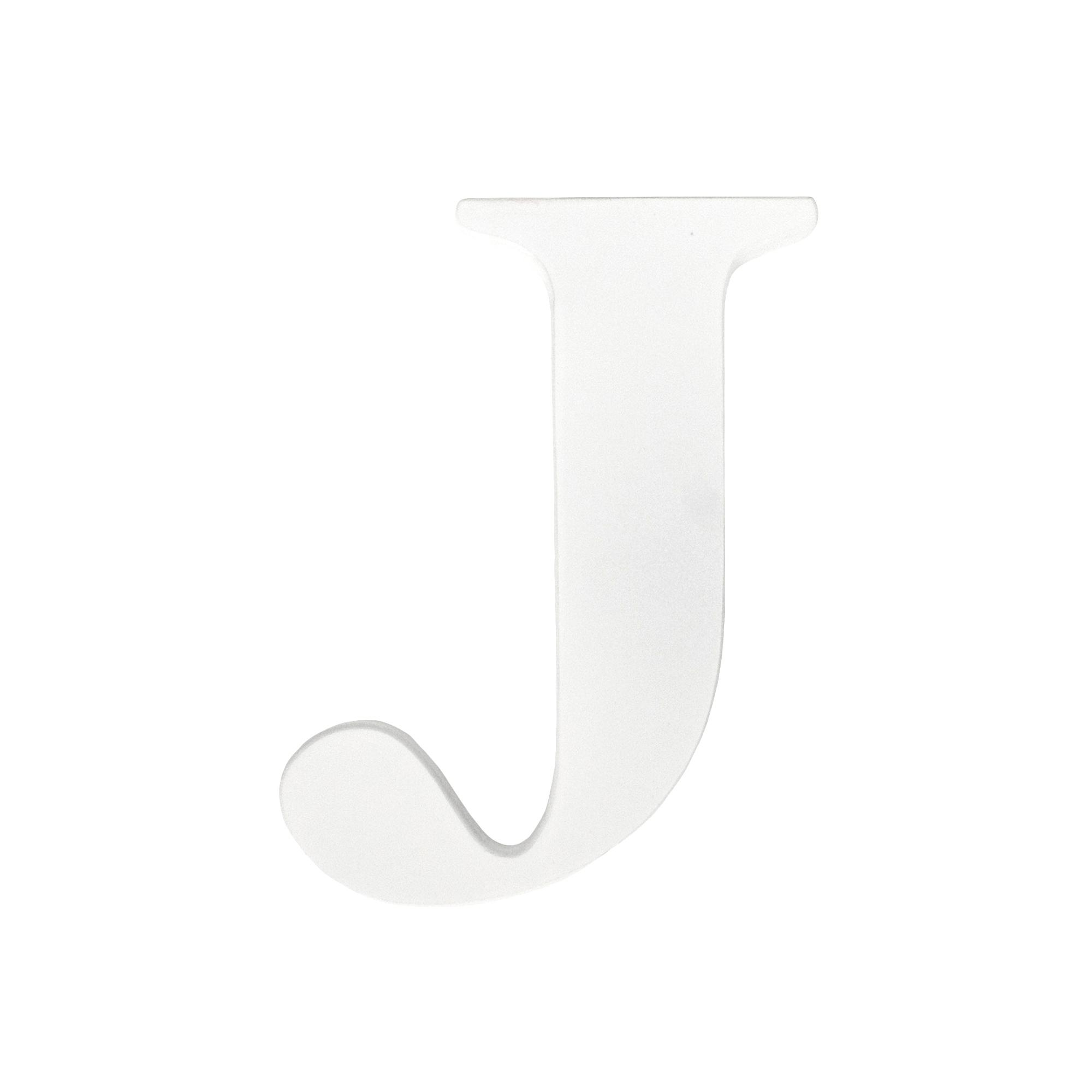 Hanging Wall Letter J White