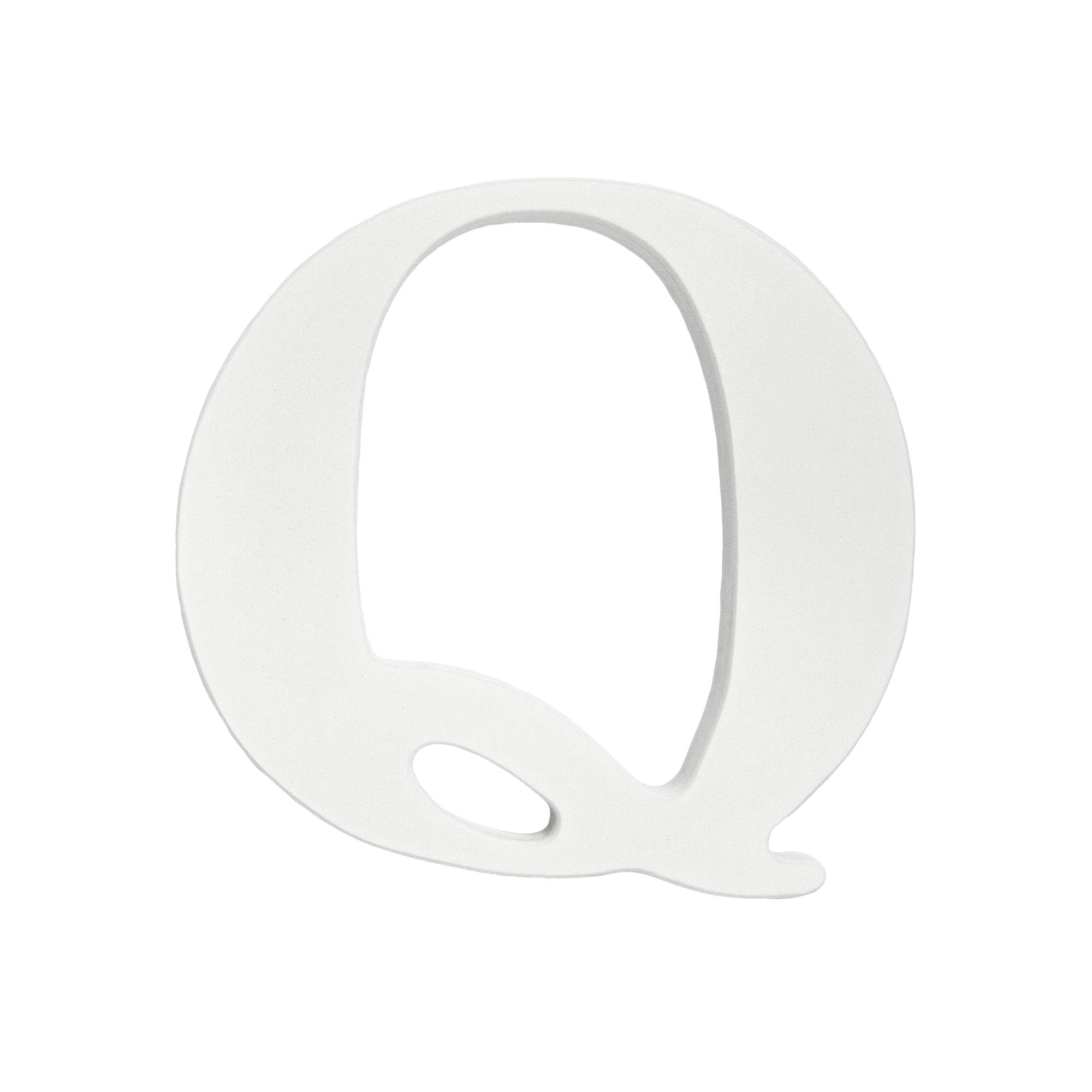 Combine the Little Haven hanging letter 'Q' with other letters to display  your child's name or initals on a wall. The classic white finish easily  fits with ...